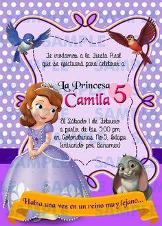 Resultado de imagen para invitaciones de princesa sofia