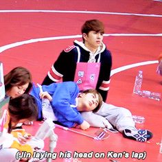 Jin and Ken at the Idol Star Athletic Championships 2016 Bts Memes, Funny Memes, Namjin, Bts Jin, Bts Bangtan Boy, Ken Vixx, Bts Reactions, Korea, Worldwide Handsome
