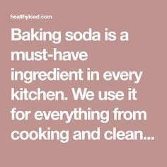 Baking soda is a must-have ingredient in every kitchen. We use it for everything from cooking and cleaning to beauty treatments, but there are certainly some uses you haven't heard about so far. After you read this article we're sure that you'll never look at baking soda the same way again. Care for your feet …