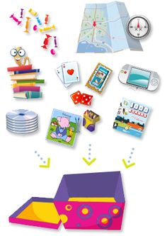 Travel kit with game ideas and free printables for long car drives  Petit kit de survie des enfants en voiture avec jeux divers et variés
