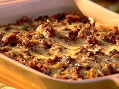 Sausage and Leek Casserole : The Neelys' sausage and leek casserole is perfect for family get-togethers.