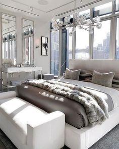 Master Bedroom Design, Modern Bedroom, Bedroom Designs, Bedroom Goals, Restoration Hardware Bedroom, Living Room Decor, Bedroom Decor, Bedroom Sets, Dream Rooms