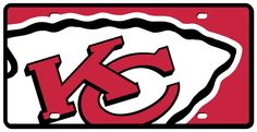 Kansas City Chiefs License Plate - Acrylic Mega Style