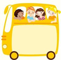 School Bus w/ Children Diy And Crafts, Crafts For Kids, Paper Crafts, Kids Background, School Bus Driver, Background Powerpoint, School Frame, Magic School Bus, Borders For Paper