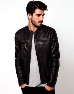 asos leather jackets