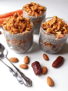 Healthy & Delicious Carrot Cake Chia Seed Pudding! https://TheDishonHealthy.com
