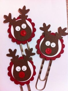 Owl punch reindeer bookmarks- one of the ideas I plan to make for the winter fest at school.