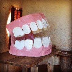 Papier mâché teeth at dentist. Bedrock City, Flintstones Amusement Park, Arizona.