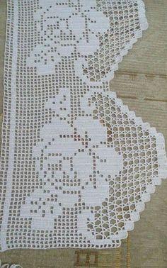 DIY Como tejer escarpines, merceditas, guillerminas a crochet, ganchillo - Crochet Gifts Crochet Boarders, Crochet Lace Edging, Crochet Doilies, Crochet Flowers, Filet Crochet, Crochet Chart, Crochet Stitches, Crochet Curtains, Tapestry Crochet