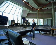 Mike Fraser in the Big Room at Real World Studios