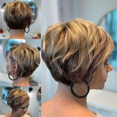 Short Bob Hairstyles, Cool Hairstyles, Haircuts, Blonde Hair Inspiration, Medium Hair Styles, Curly Hair Styles, Pelo Pixie, Sassy Hair, My Hairstyle