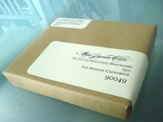 brown craft paper with wrap around label- love the simplicity of it and I love wrap around labels