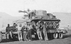 A very unusual self propelled gun modification using a SdKfz 250 chassis made by Afrika Korps forces