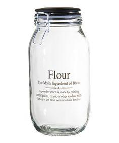 Look what I found on #zulily! 74-Oz. 'Flour' Storage Jar by Global Amici #zulilyfinds