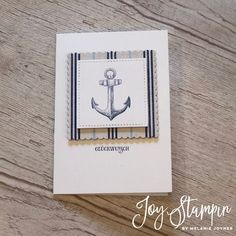 Setz die Segel Stampin Up Meer der Möglichkeiten Luv und Lee Sailing home Ideas Scrapbook, Scrapbook Cards, Cards For Men, Nautical Cards, Send A Card, Cricut, Stampin Up Catalog, Masculine Cards, Stamping Up
