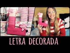 Letra Decorada =DiY | Dany Martinês (+ Flor de Tecido) - YouTube