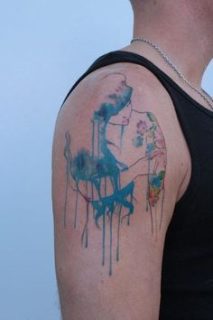Water color tattoo.