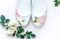 Wedding colour trends for Hand-painted wedding shoes by Elizabeth Rose London —Bespoke Wedding Accessories Satin Wedding Shoes, Unique Wedding Shoes, Bridal Wedding Shoes, Satin Shoes, Bridesmaid Accessories, Wedding Accessories, Hand Painted Shoes, Queen, Peony