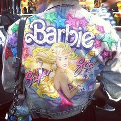 Crazy Barbie Denim Jacket Holy Crap! I am in love!!!