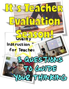 It's that time of year.You're going to be observed and evaluated. What will you teach? Sometimes it feels like a dog and pony show. These 3 questions will help you authentically reflect on your growth. Teaching Strategies, Teaching Tips, Learning Activities, Interactive Activities, Teacher Blogs, Teacher Resources, Secondary Resources, Planning School, Teacher Evaluation