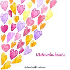 水彩の心の背景 無料ベクター Art Journal Fondos, Art Journal Backgrounds, Graffiti Murals, Watercolor Heart, Heart Background, Hip Hop Art, Wedding Stationery, Vector Free, Origami