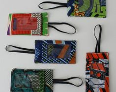 African Wax Print Fabric Luggage Tags for Suitcase Backpack going away on holidays