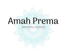 ' Amah Prema Sanskrit Mantra' by Verena Joy Matthew Sanskrit Quotes, Sanskrit Mantra, Sanskrit Words, Good Thoughts, Tattoo Inspiration, Decorative Throw Pillows, Life Lessons, Quotations, Meditation
