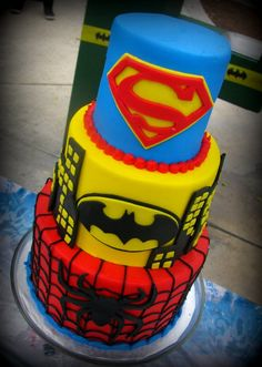 Super Heroes Birthday Cake