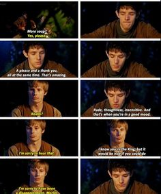 This was a freaking hilarious episode but i felt bad for Simpleton Arthur lol Merlin Merlin, Merlin Series, Merlin Fandom, Merlin And Arthur, Freaking Hilarious, Funny, Tv Head, Parks N Rec, Laughing So Hard