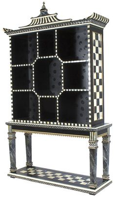 I will have a Mackenzie Child piece..Pagoda Bookshelf and Console Table - (kitchen)