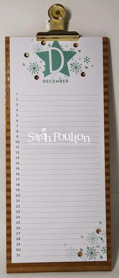 Stampin' Sarah!: Perpetual Birthday Calendar Kit Part 2 created by Stampin' Up! UK Demonstrator Sarah Poulton