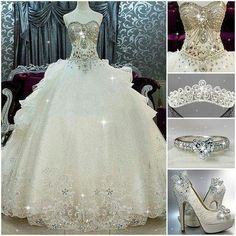 Wonderful Wedding dresses plus size winter,Wedding dresses a line bling and Beautiful wedding dresses lace. Princess Wedding Dresses, Dream Wedding Dresses, Bridal Dresses, Wedding Gowns, Wedding Dresses With Bling, Baby Wedding, Bling Wedding, Quince Dresses, Ball Dresses