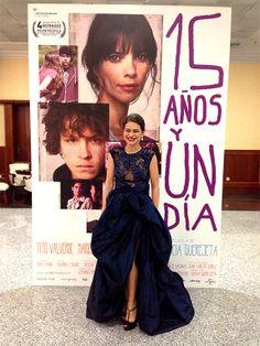 YolanCris |La talentosa actriz Sfía Mohamed elige este conjunto en azul eléctrico de Alta Costura YolanCris para la entrega de los Premios Goya 2014