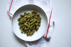 A lighter pesto pasta that's not light on flavor.