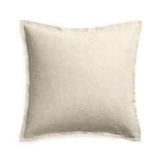 Hand-dyed yarns are woven for a richly heathered, tone-on-tone coloring with the look of textured grasscloth.  Double open flange and generous size cushions in casual comfort, perfect for lounging and scrunching.  Our decorative pillows include your choice of a plush feather or lofty down-alternative insert at no extra cost.