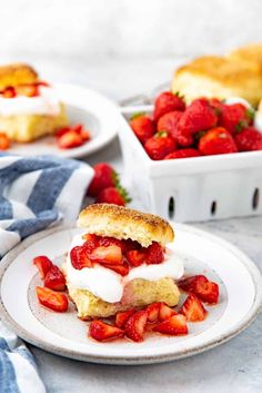 Easy Homemade Strawberry Shortcake that can be ready in 30 minutes! With Lemon shortcakes, juicy strawberries & creamy whipped cream - the perfect dessert! #TheFlavorBender #StrawberryShortcake #LemonShortcake #DessertRecipes
