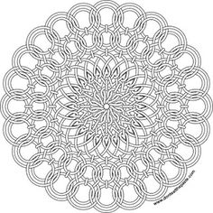wirework sun mandala to color- available in jpg and transparent PNG format