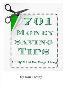 701 Money Saving Tips: A huge List for Frugal Living.