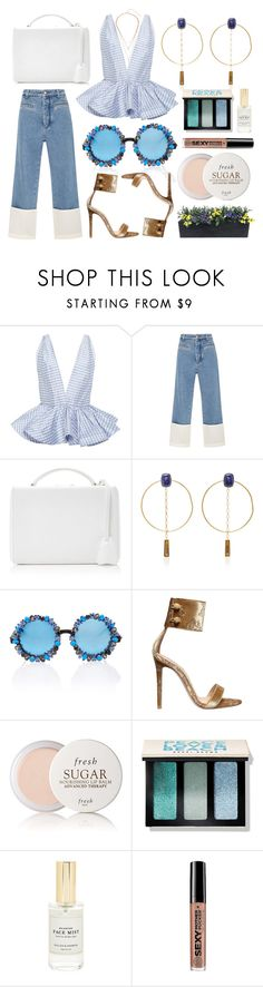 """""""FRESH SUGAR"""" by shanelala ❤ liked on Polyvore featuring Leal Daccarett, Loewe, Mark Cross, Isabel Marant, A-Morir by Kerin Rose, Gianvito Rossi, Fresh, Bobbi Brown Cosmetics, Mullein & Sparrow and Soap & Glory"""