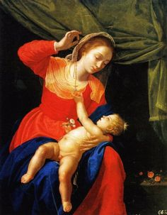 Category:Biblical paintings by Artemisia Gentileschi - Wikimedia Commons; La Vergine e il Bambino con il rosario Artemisia