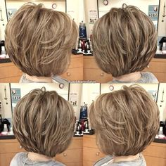 Short Layered Haircuts, Short Hairstyles For Thick Hair, Layered Bob Hairstyles, Haircuts For Fine Hair, Haircut For Thick Hair, Short Hair With Layers, Short Hair Cuts For Women, Curly Hair Styles, Pixie Haircuts