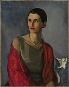 Lilias Torrance Newton - portrait d'Elise Kingman, (This woman looks contemporary in every way. L'art Du Portrait, Female Portrait, Female Art, Portrait Paintings, Canadian Painters, Canadian Artists, Harlem Renaissance, Figure Painting, Painting & Drawing