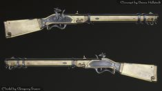 ArtStation - Bone gun, Gregory Trusov Anime Weapons, Sci Fi Weapons, Weapon Concept Art, Fantasy Weapons, Weapons Guns, Guns And Ammo, Arma Steampunk, Steampunk Weapons, Rifles