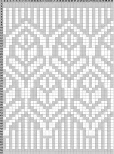Tapestry Crochet Patterns, Fair Isle Knitting Patterns, Fair Isle Pattern, Knitting Charts, Knitting Stitches, Knit Patterns, Embroidery Patterns, Cross Stitch Patterns, Stoff Design