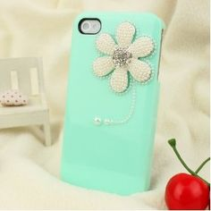 pearl flower tiffany color iphone case. and Pimp Your Screen to create a unique design of the screen (see AppStore)
