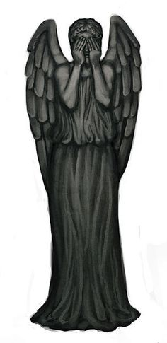 weeping angel tattoo well i think not but would be funny to scare the crap out of my friends with fake tattoo