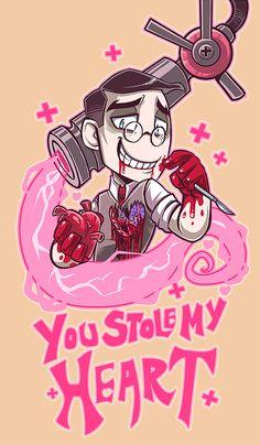 Medic's valentine by Fluro-Knife.deviantart.com on @deviantART