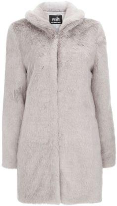 Mink Faux Fur Midi Coat