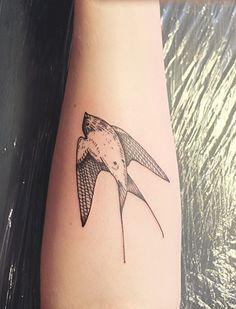 swallow forearm tattoo