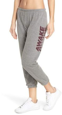 SPIRITUAL GANGSTER women/'s awake perfect sweatpants nwot made in usa gray
